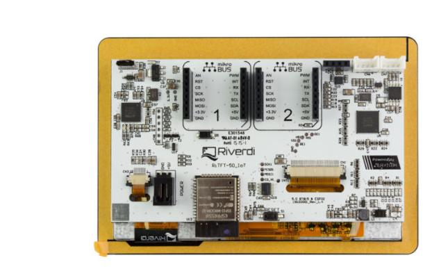 A product image for Riverdi – RiTFT-50-IOT-UX, di alta qualità 5 pollici di esposizione – RVT50UQENWC01