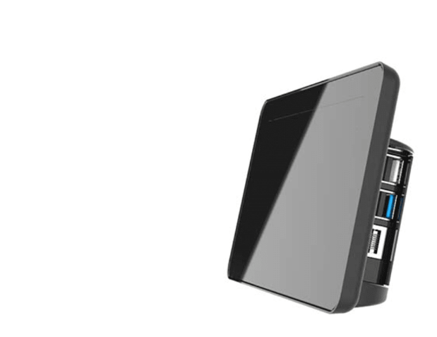 Raspberry Pi 4 Touchscreen Display Case - Black