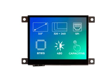 Riverdi Ritft-35-Cap-Fr, 3.5 Inches Tft Display