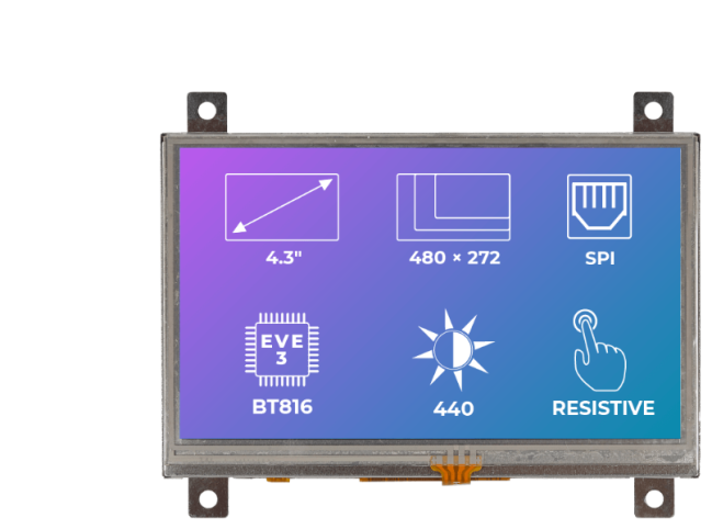 A product image for Riverdi Ritft-43-Res-Fr, 4.3 Inches Tft Display