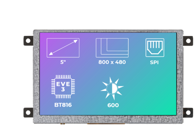 A product image for Riverdi Ritft-50-Fr, 5 Inches Tft Display
