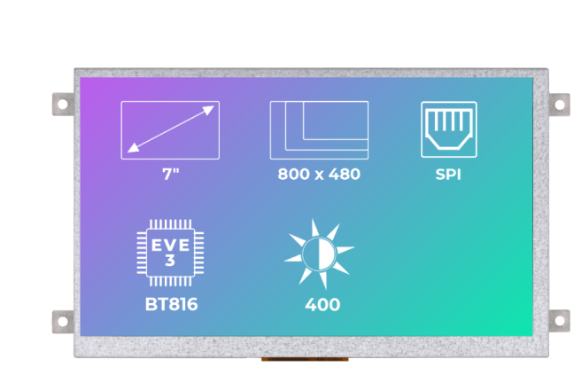 A product image for Riverdi Ritft-70-Fr, 7 Inches Tft Display