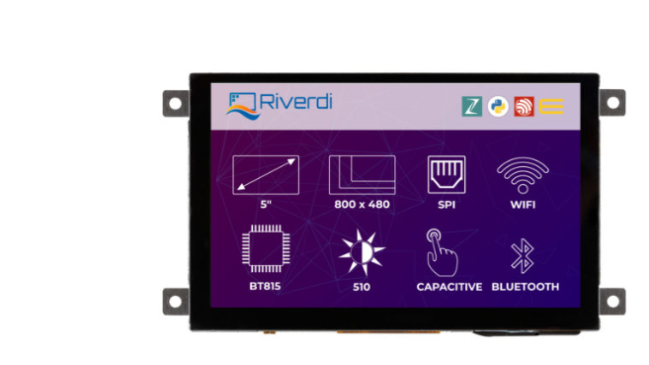 A product image for Riverdi Ritft-50-IoT-Cap, High-Quality 5 Inches