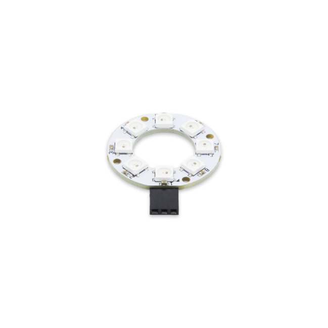 A product image for Pi Supply 8 RGB Rainbow LED Ring