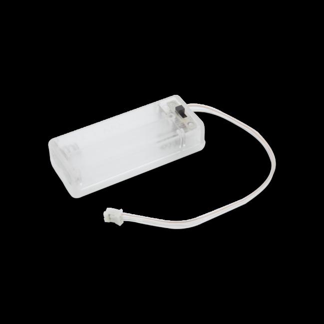 A product image for Pi Supply, scatola della batteria trasparente, 2 x AAA per micro:bit