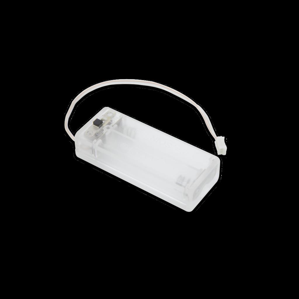 Pi Supply, scatola della batteria trasparente, 2 x AAA per micro:bit