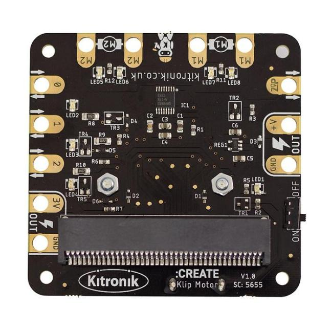 A product image for Kitronik Klip Motor Driver for BBC micro:bit