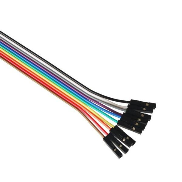 Jumper Wires 20cm M/F, pack of 10