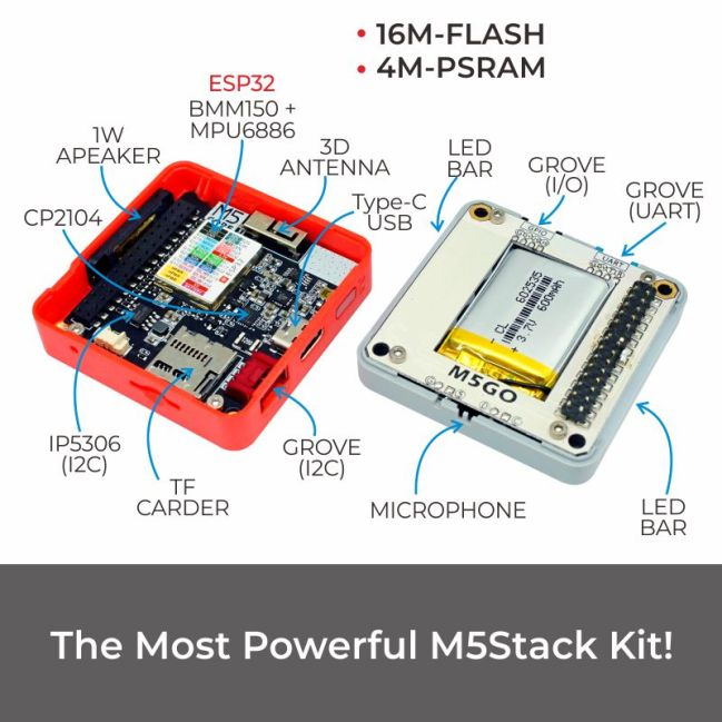 A product image for M5Stack FIRE IoT Development Kit (PSRAM 2.0)