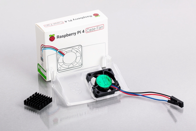 A product image for Raspberry Pi 4 Case Fan