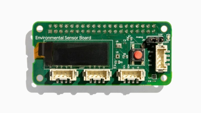A product image for Coral Environmental Sensor Board