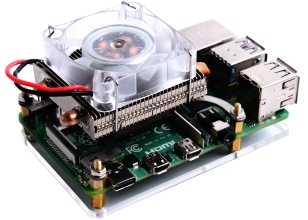 ICE-Tower Low Profile CPU Cooling Fan with RGB LED for Raspberry Pi 4B/3B+/3B