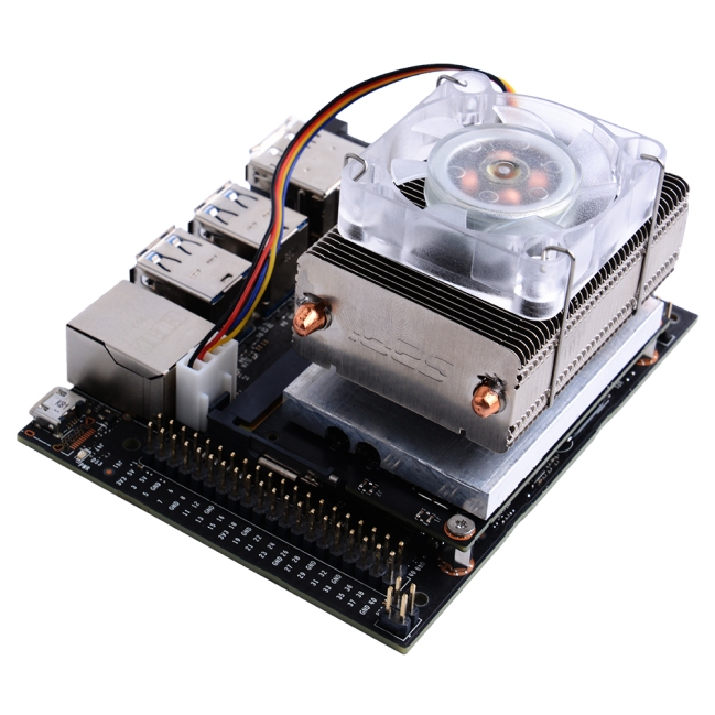 A product image for ICE-Tower CPU Cooling Fan with RGB LED for NVIDIA Jetson Nano
