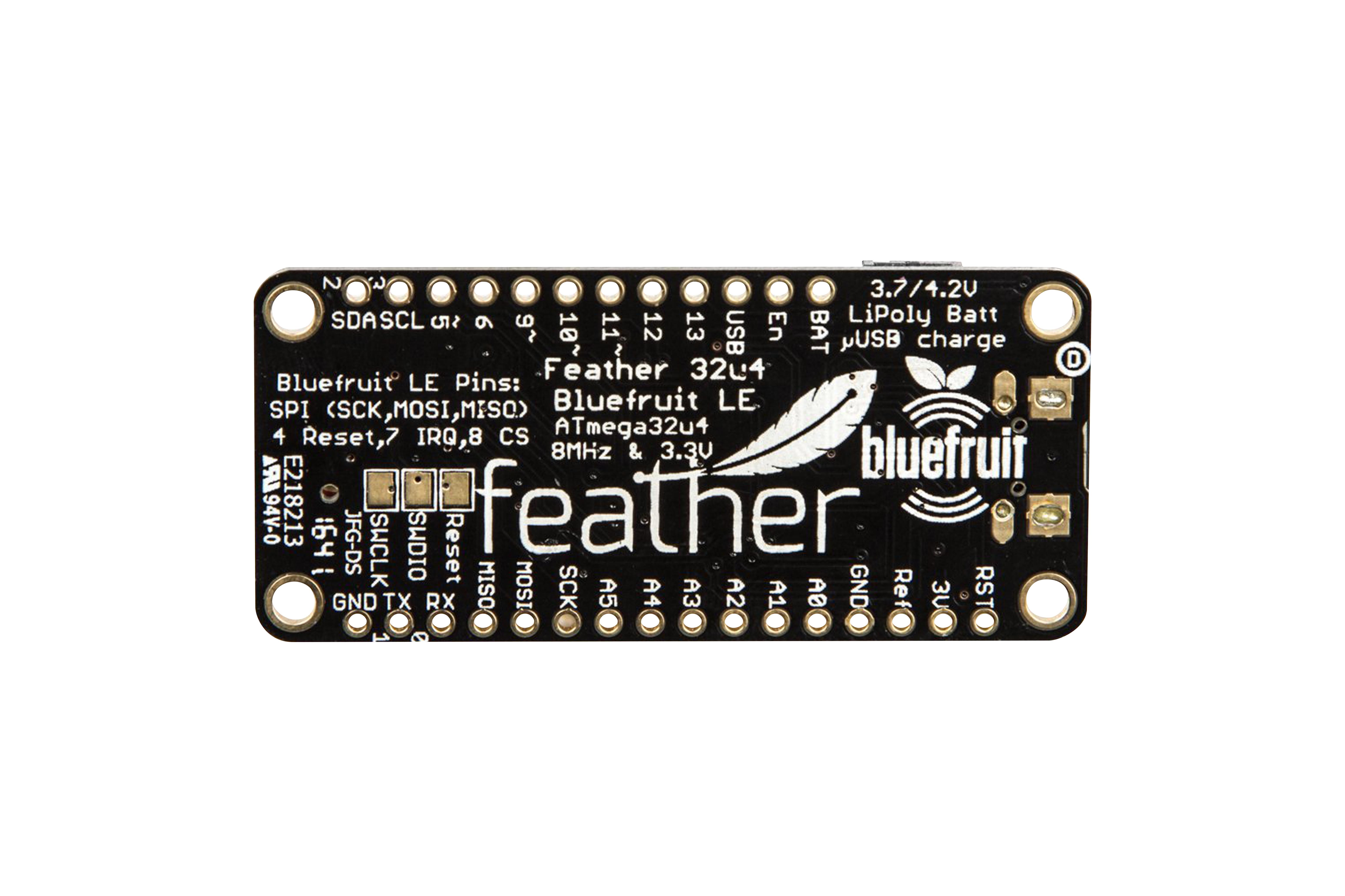 Adafruit Feather(アダフルーツ・フェザー)ATmega32u4 Bluefruit LE
