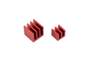 Raspberry Pi(ラズベリーパイ)ヒートシンクキット - レッド