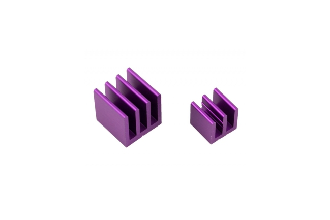 A product image for Raspberry Pi(ラズベリーパイ)ヒートシンクキット – パープル