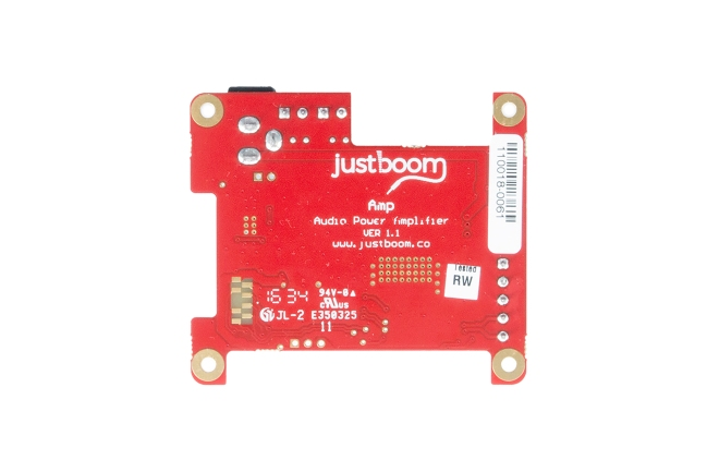 A product image for JustBoom Ampアドオンボード