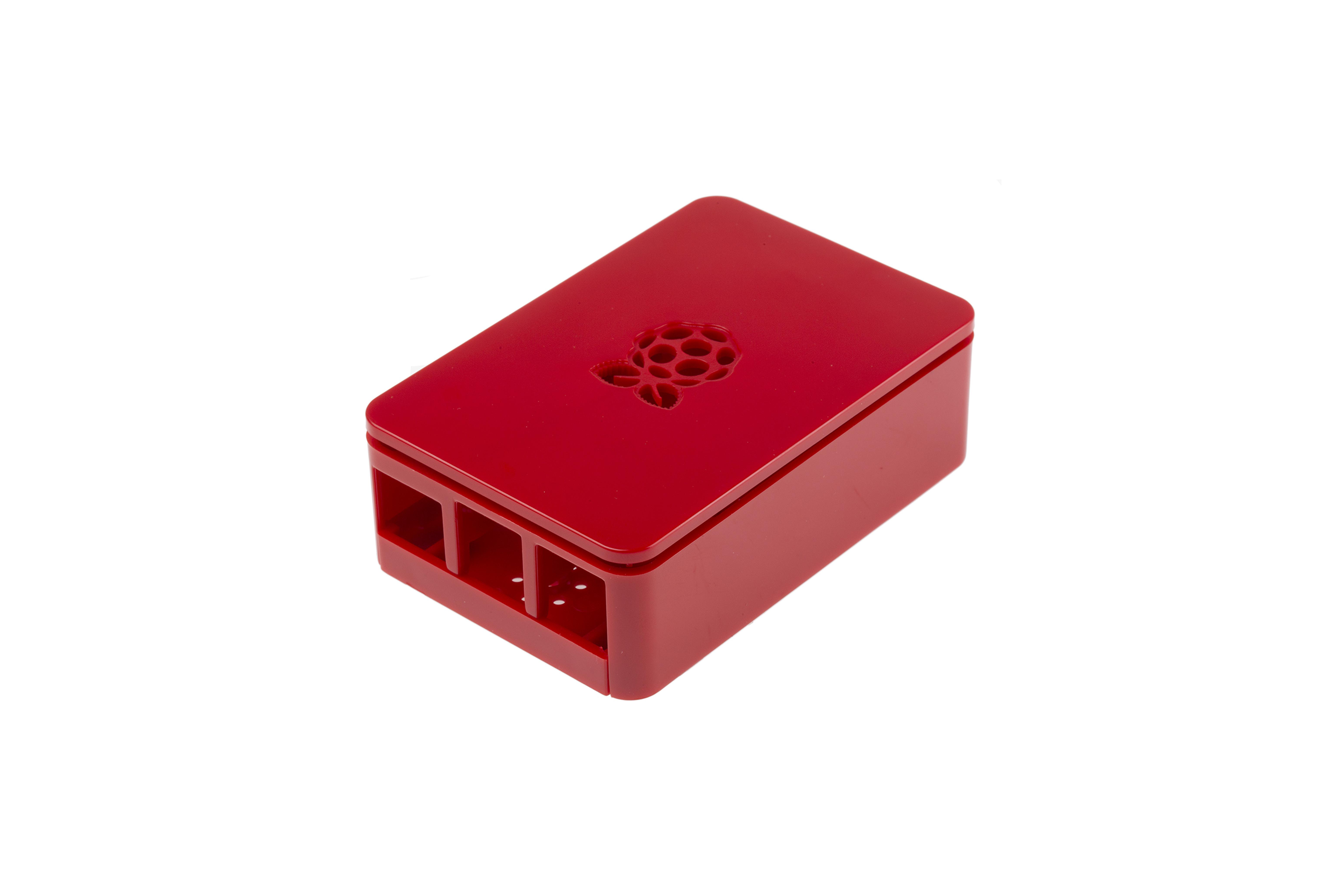 Raspberry Pi(ラズベリーパイ)3エンクロージャー、レッド
