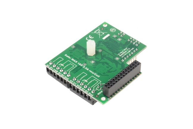 A product image for Gertbot Robotics Board for Raspberry Pi(ラズベリーパイ)
