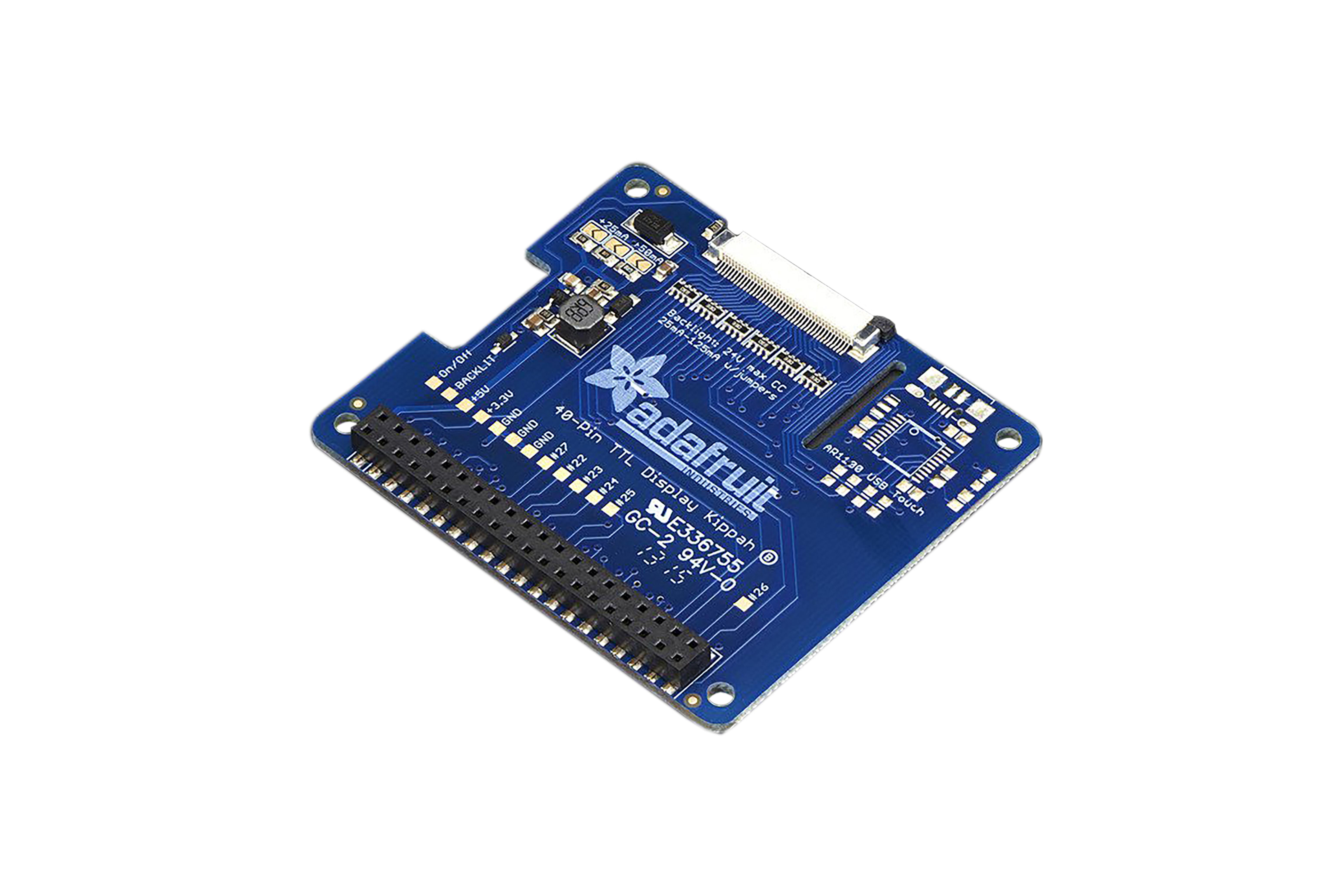 Raspberry Pi(ラズベリーパイ)用Adafruit(アダフルーツ) DPI TFT KIPPAH