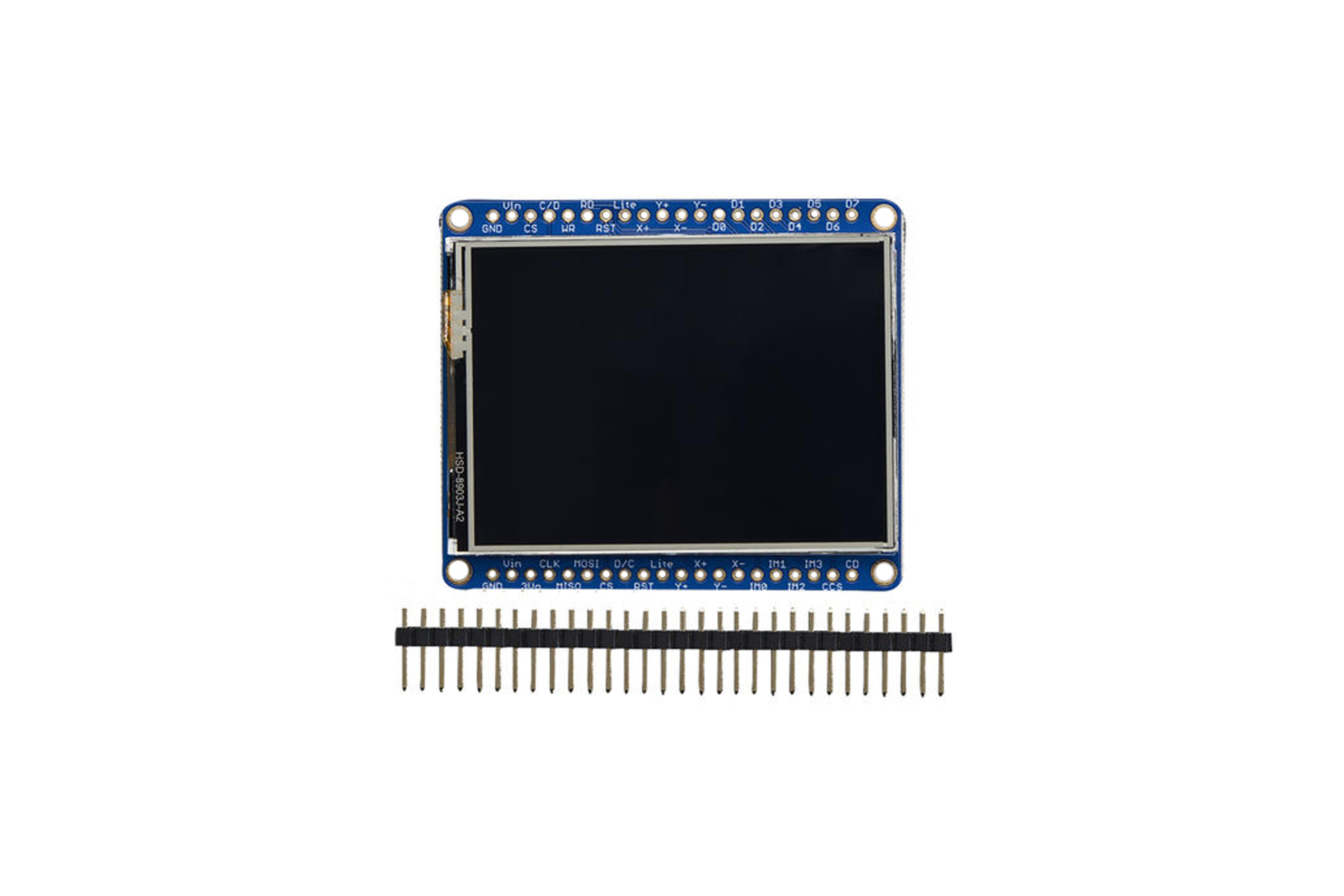 Adafruit(アダフルーツ)2.4インチLCD タッチスクリーンボード