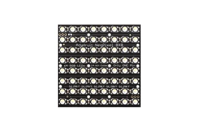 A product image for NeoPixel NEOMATRIX 64 RGBW LED 6000K