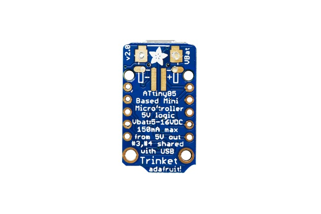 A product image for Adafruit(アダフルーツ) Trinket – ミニマイクロ 5V