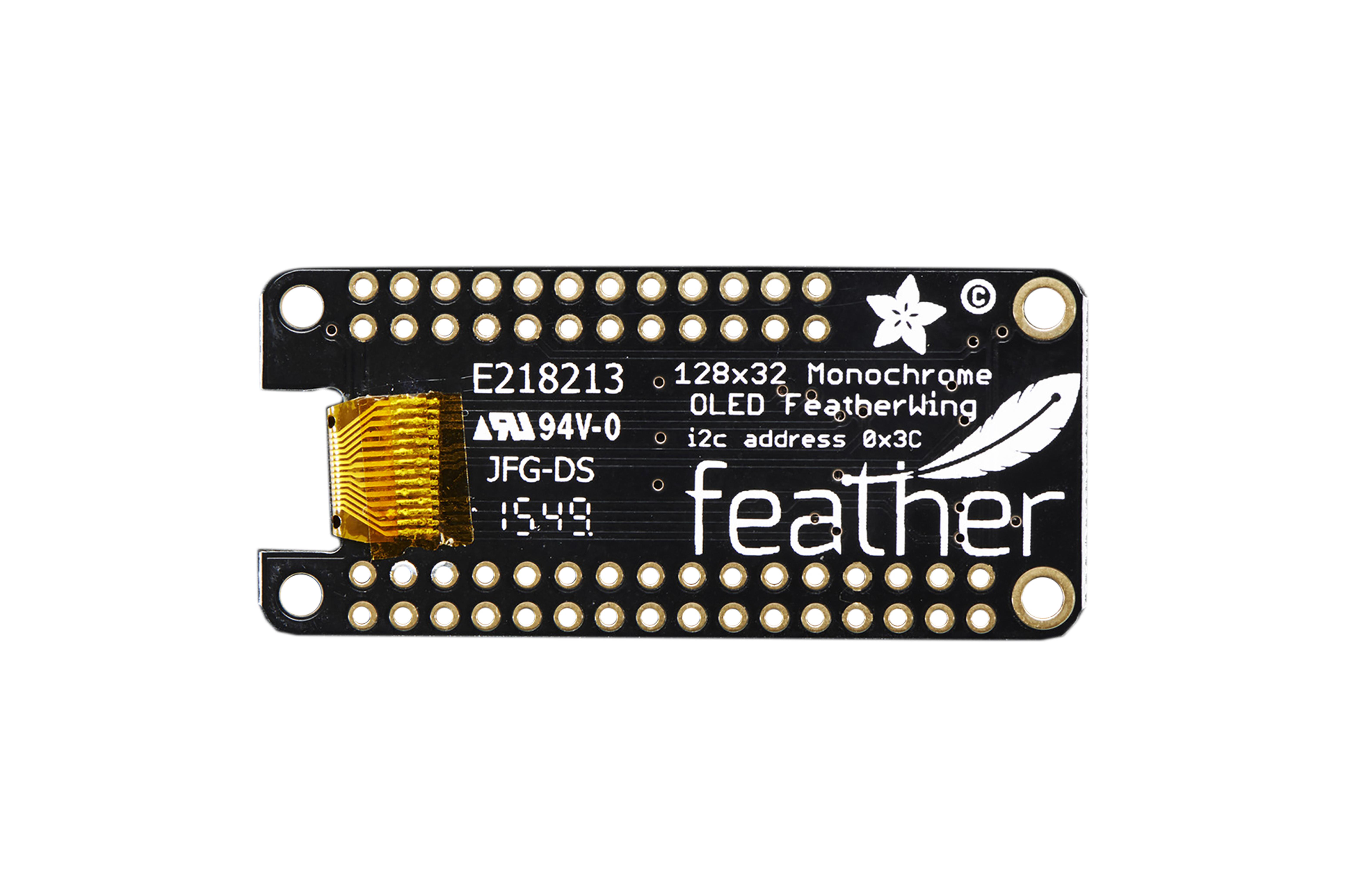 FeatherWing 128x32 OLEDアドオンボード