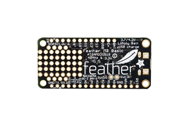 A product image for Adafruit Feather(アダフルーツ・フェザー) Cortex-M0プロトタイプボード