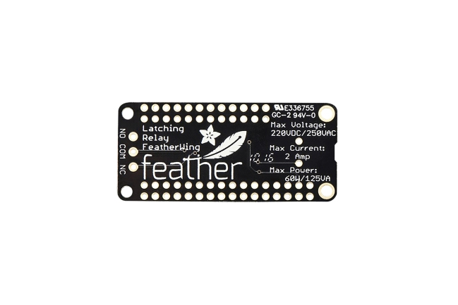 A product image for FeatherWing ラッチング ミニ リレーボード