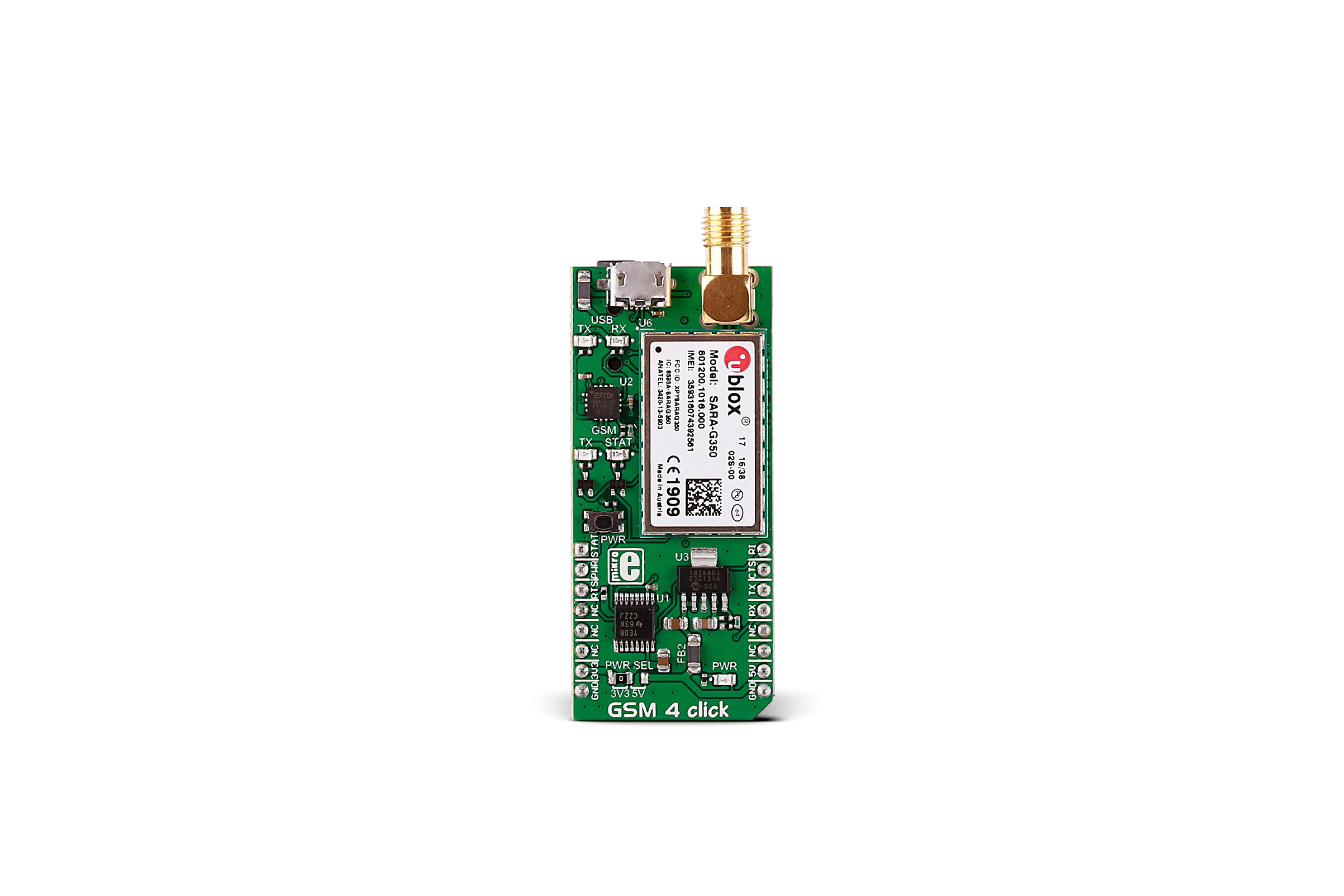 GSM 4クリック セルラーボード、MIKROE-2388