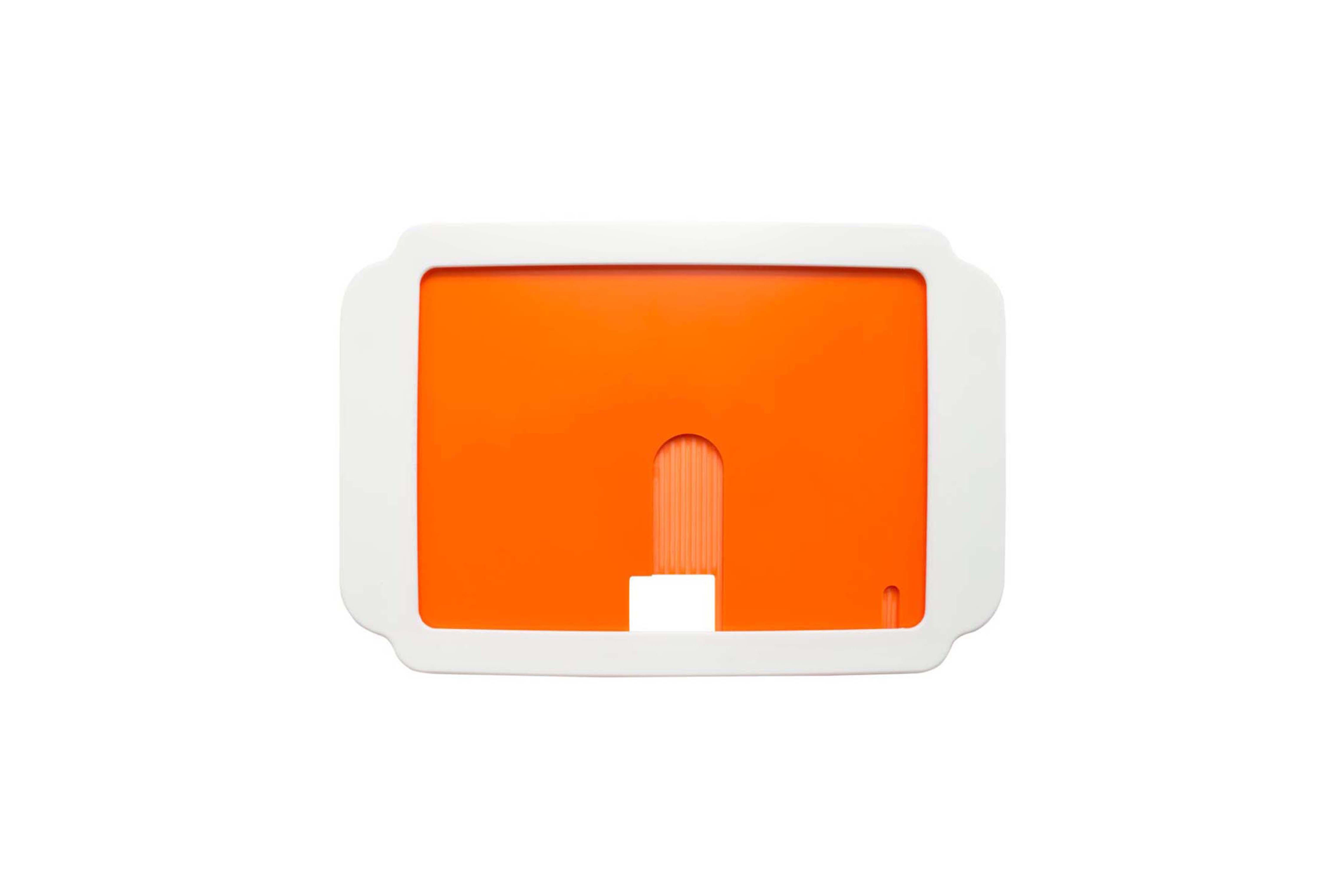 フリック ラージケース - オレンジ/ホワイト