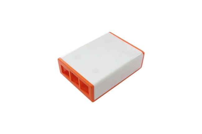 A product image for フリック HATケース – オレンジ/ホワイト