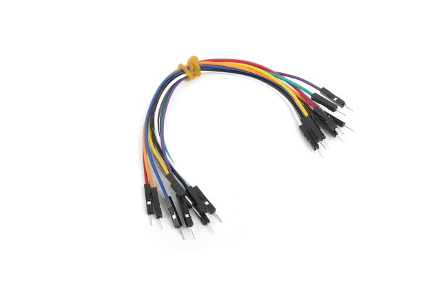 A product image for Wire Jumpers(オス-オス)10個