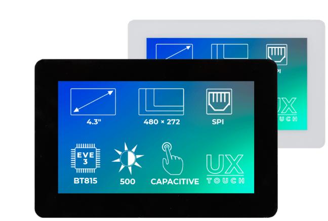 A product image for Riverdi Ritft-43-Cap-Ux, 4.3 Inches Tft Display – Black