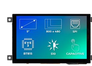 Riverdi Ritft-50-Cap-Fr, 5 Inches Tft Display