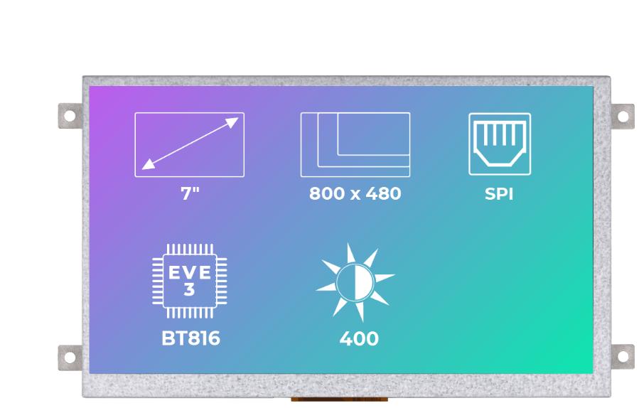 Riverdi Ritft-70-Fr, 7 Inches Tft Display