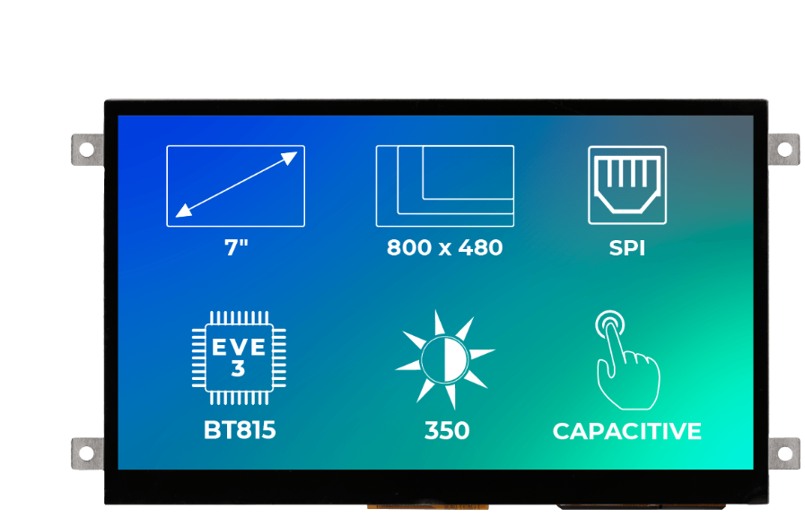 Riverdi Ritft-70-Cap-Fr, 7 Inches Tft Display
