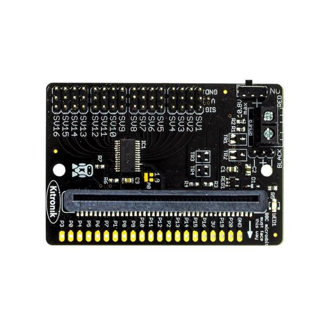 A product image for Kitronik Compact 16 Servo Driver Board for the BBC micro:bit