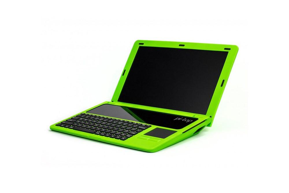 Pi-Top Duits toetsenbord en voeding - groen