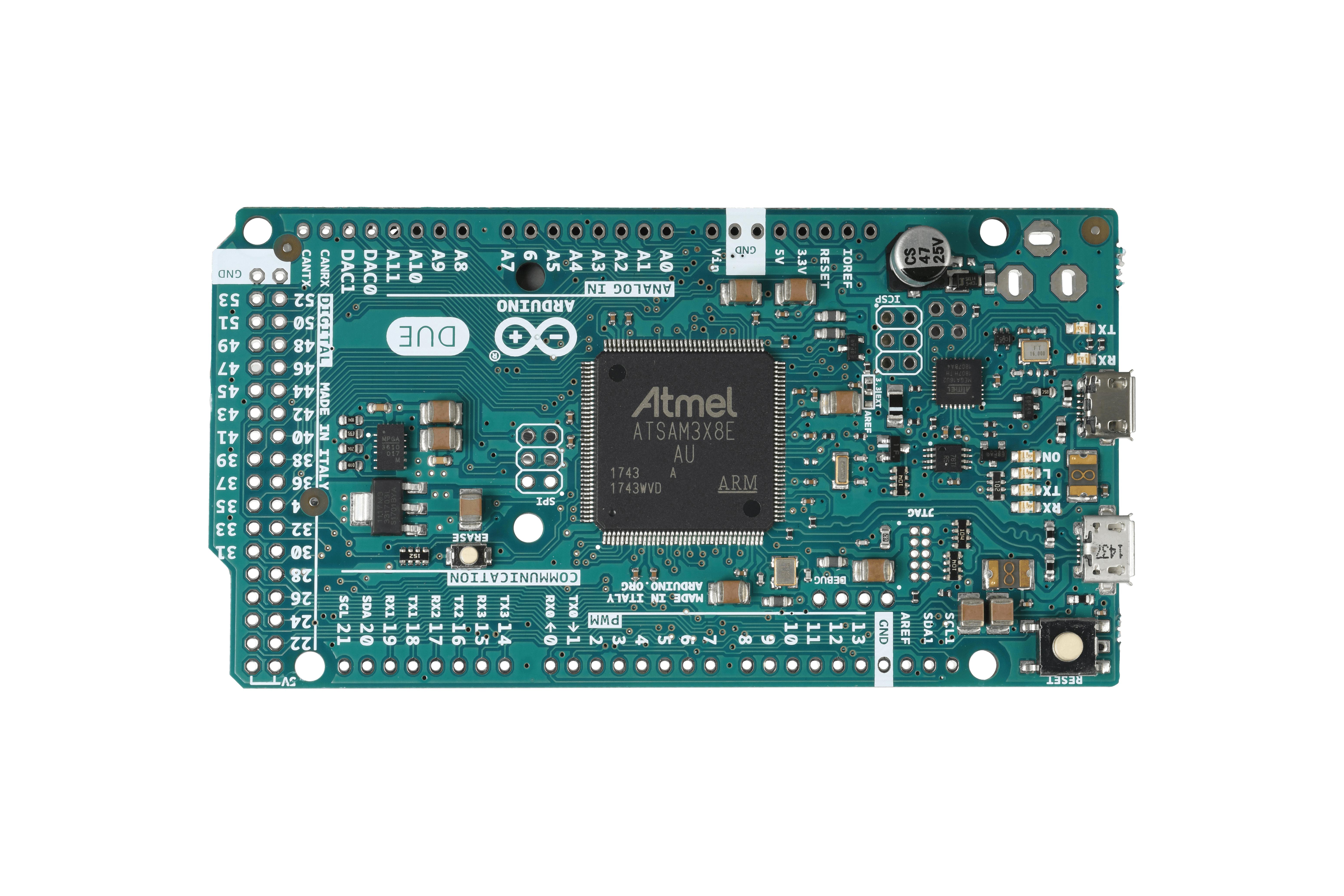 ArduinoDue zonder headers
