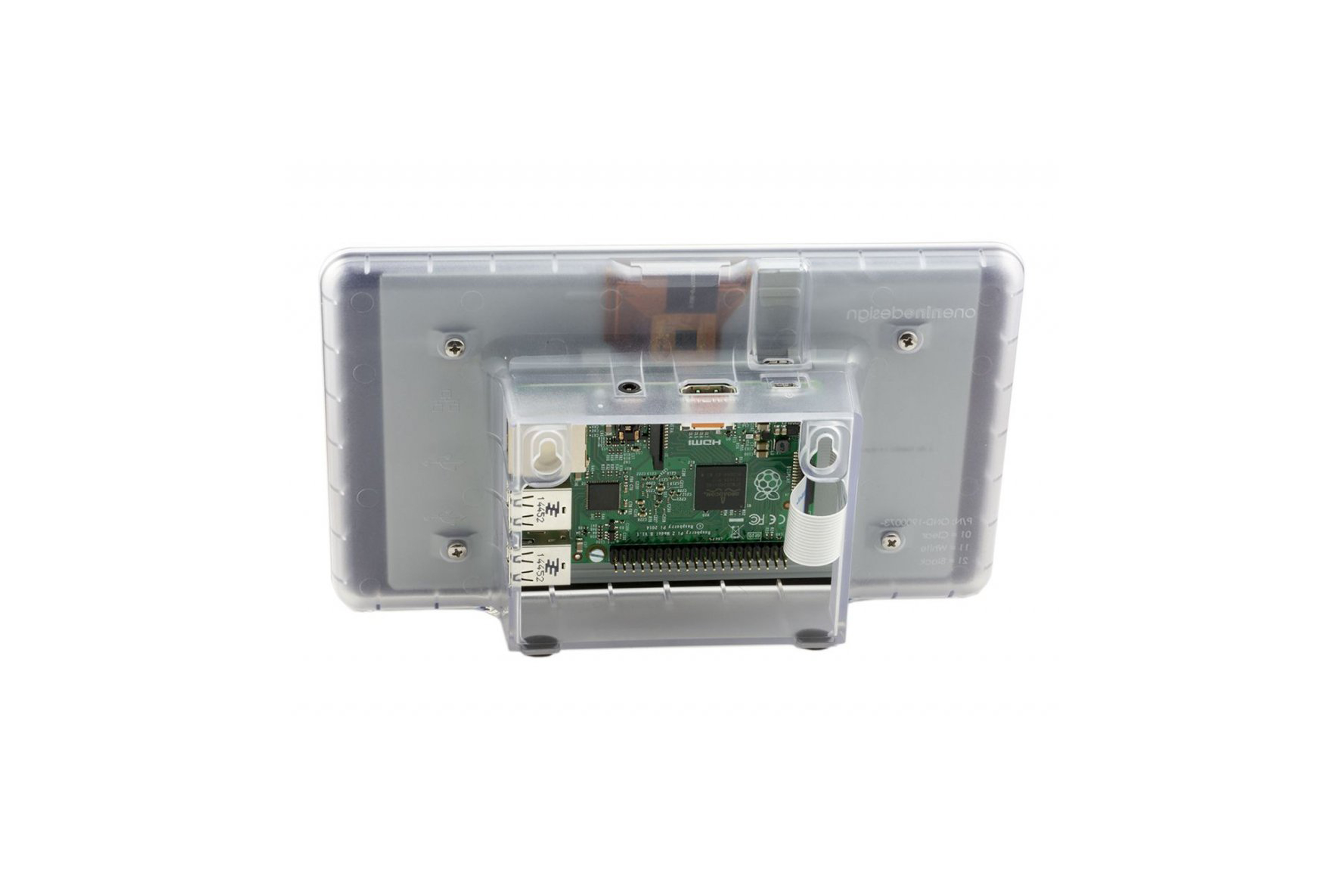 RaspberryPi touchscreen-behuizing - transparant