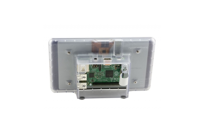 A product image for Raspberry Pi touchscreen-behuizing – transparant