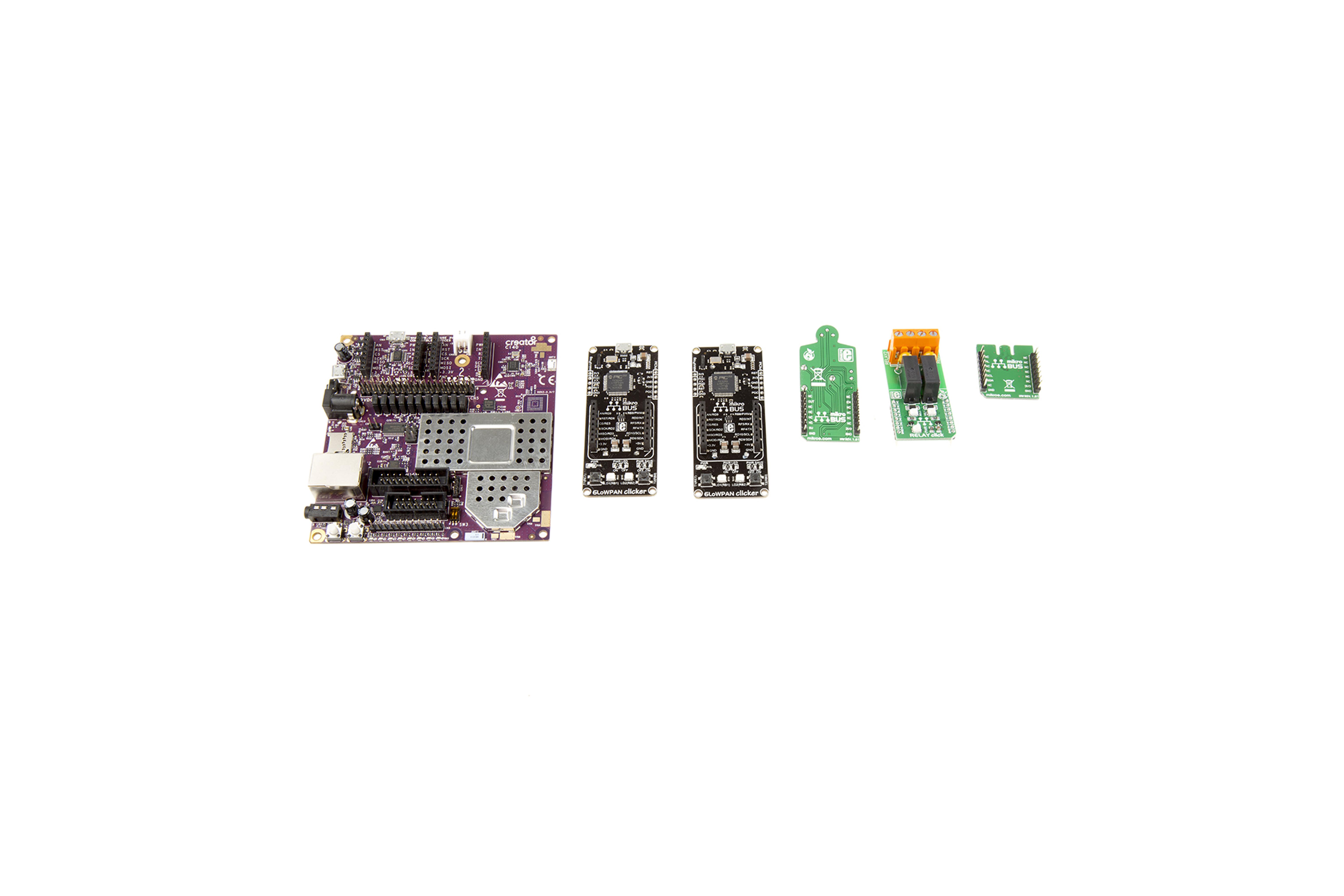 Creator Ci40 IoT-set met clicker-kaarten