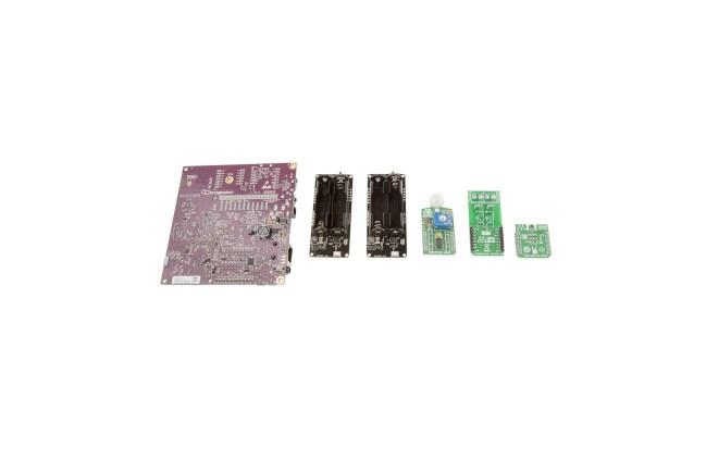 A product image for Creator Ci40 IoT-set met clicker-kaarten