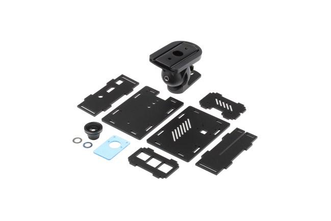 A product image for RaspberryPi-camerabehuizing met set voor montage aan de muu
