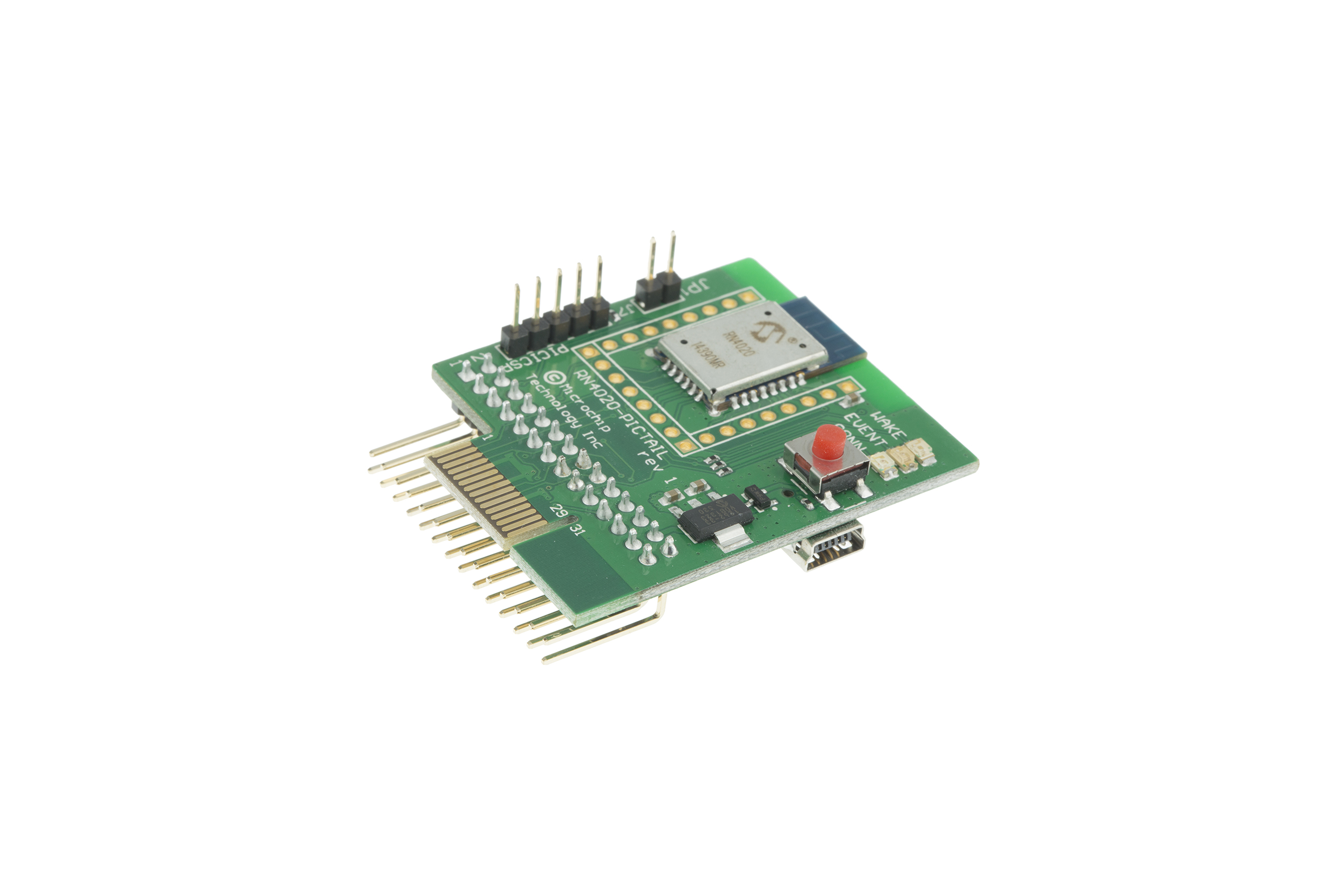 RN4020 Bluetooth LowEnergy PICtail-kaart