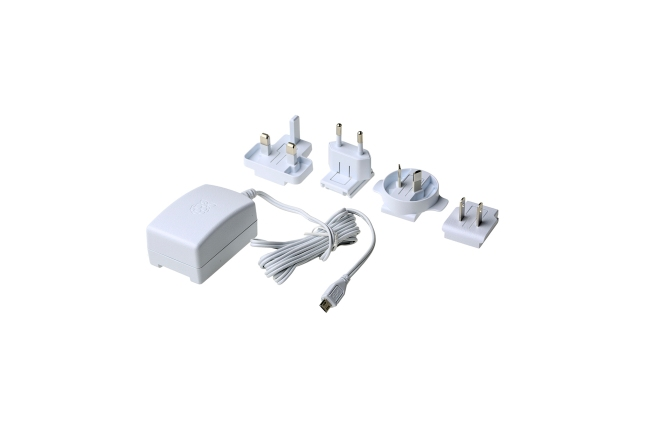 A product image for Officiële voeding Pi 3, wit