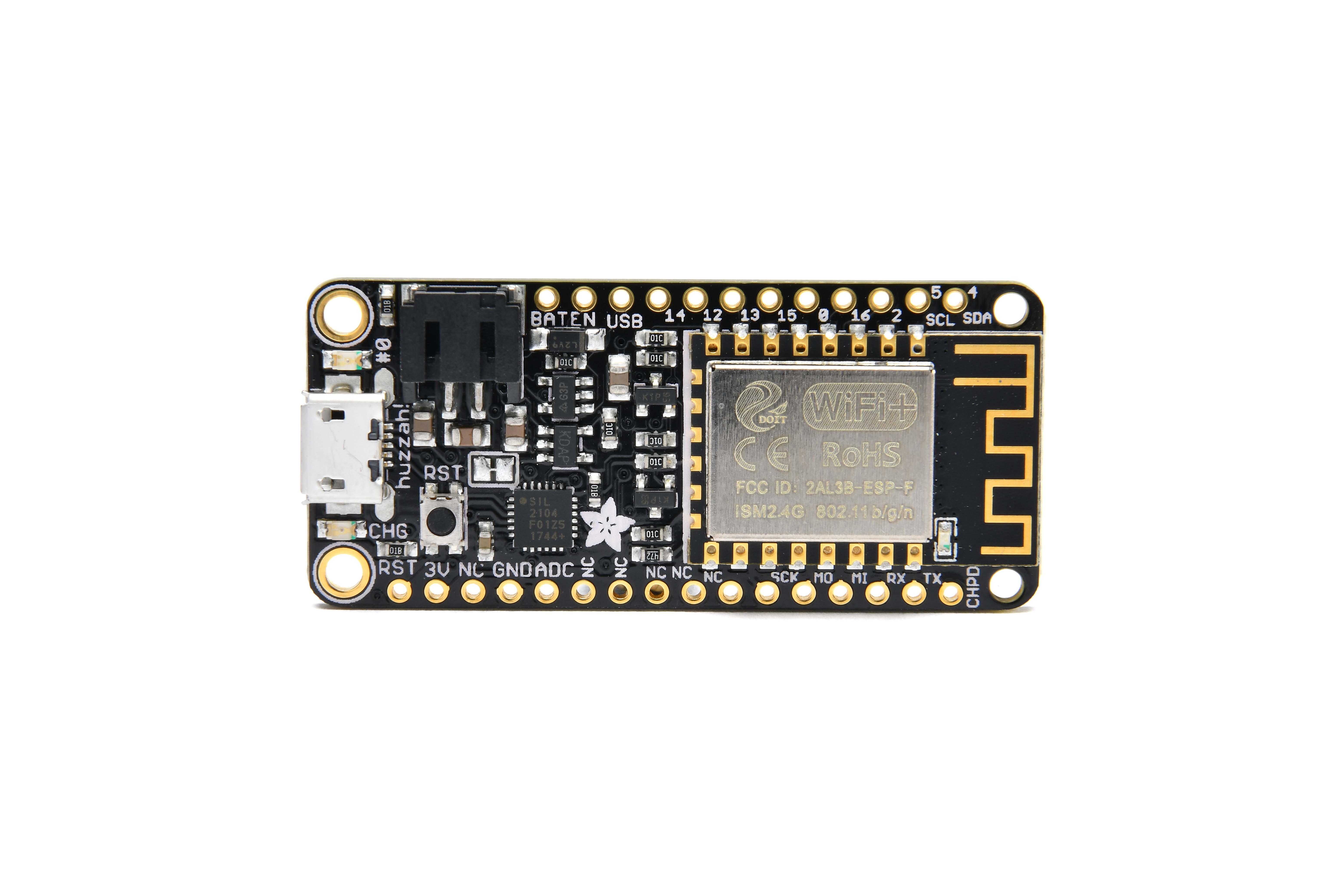 AdafruitFeatherHUZZA inclusief ESP8266 wifi