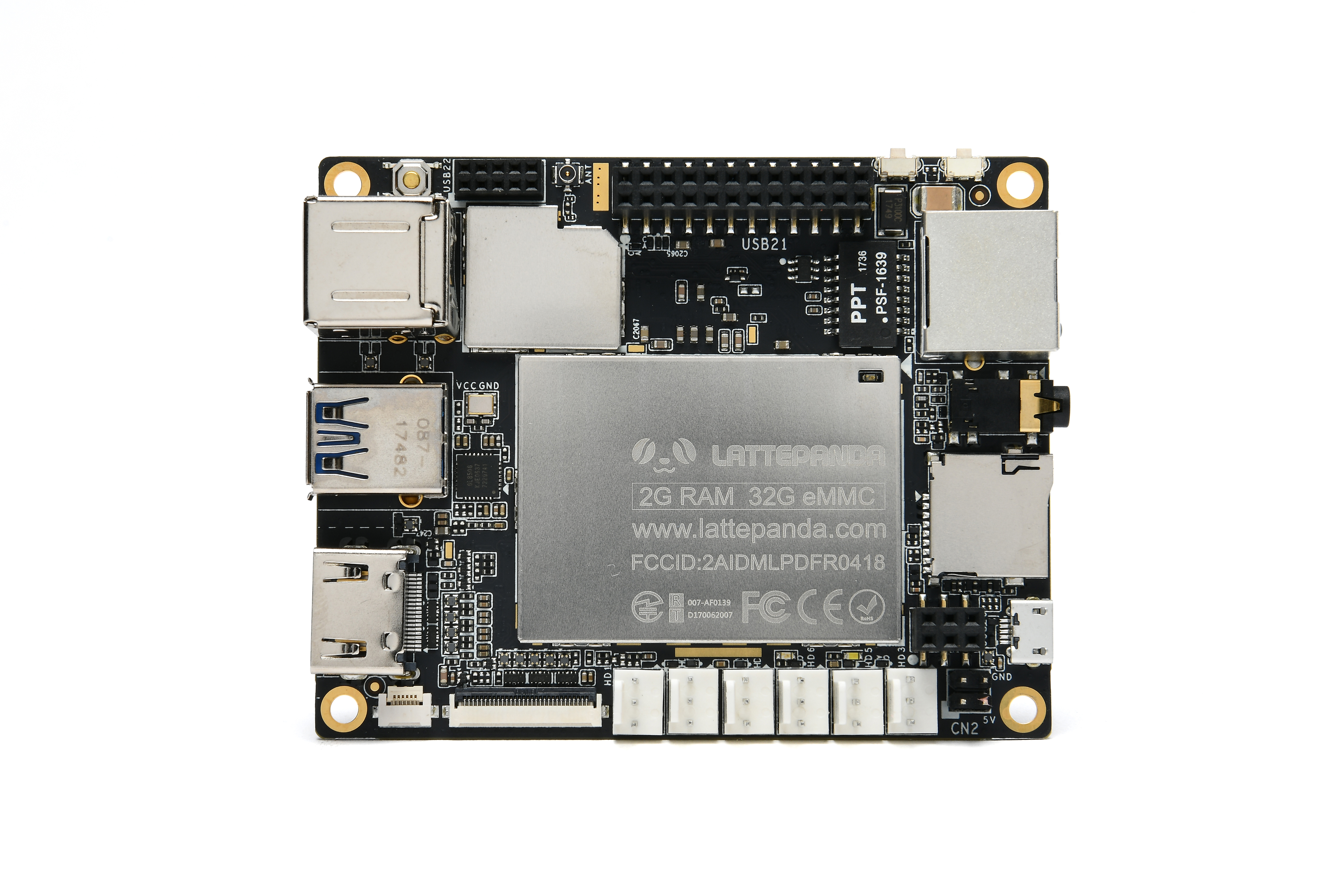 LattePanda 2 GB/32 GB-computer zonder licentie